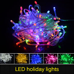 10M Holiday Outdoor lighting LED String Decorative Christmas X'mas Wedding Party Festival Twinkle Light AC 220V for New Year