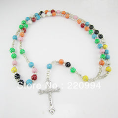 12pcs of Colorful Multi-colors Plastic Bead Rosary