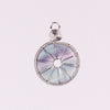 Image of 2016 Latest Wire Wrapped Rose Quartz Crystal Green Aventurine Flourite Flat Round Beads Stone Ping Buckle Natural Charm Pendants
