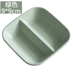 1pc Creative Home Colored Plate Dessert Plate Flavored Dish Japanese Tableware Plastic Tray