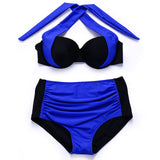 BANDEA High Waist 2017bikini Plus Size Swimwear Sexy Women Swimsuit Retro Halter high waist  Bikini Set maillot de bain