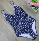 2017 New Print Bandage One Piece Swimsuit Sets Sexy Floral Swimwear Women Lace Bodysuit Monokini Summer Bathing Suit 2493