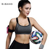 B.BANG Best Selling Women Bras Fitness Shakeproof Bra Padded Seamless Push Up Bras Workout Quick Dry Wirefree Crop Tops
