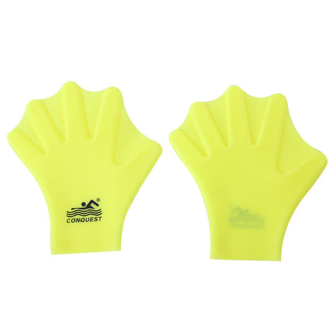 1Pair Unisex Swimming Diving Palm Swim Fins Swimming Snorkeling Webbed Gloves Adult Swimming Finger Fin Hand Paddle Wear Silicon