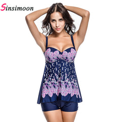 2017 Dress Swimsuit Skirt Bathing suit One piece bathing suit Floral Print Swimsuit Women Plus size Swimwear One-piece Monokini