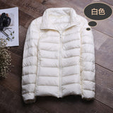 Winter Jacket Women Coat 2018 Warm Ultra Light 90% White Duck Down Jacket Slim Women Autumn Jacket Windproof Down Short Coats