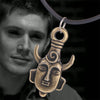Image of Retro Necklace Surrounding the evil forces Supernatural Dean Wearing the Amulet Necklaces The Amulet Pendant Chain Necklace