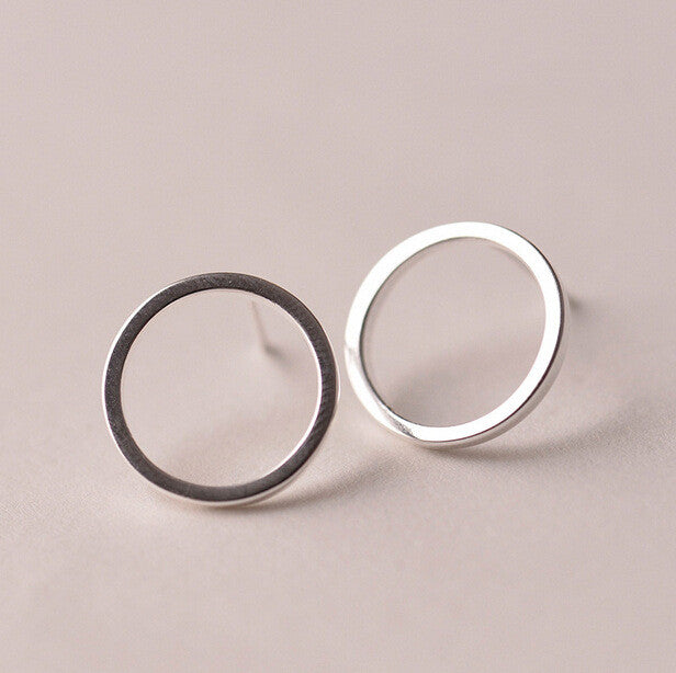 925 Sterling Silver Earrings Simple Circles Stud Earrings For Women Hypoallergenic Sterling Silver Jewelry - Bohemian Gift Stores