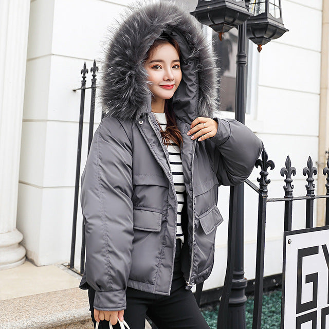 2018 Real New Arrival Down Jacket Winter Jacket Women Single Full Slim Hair Cotton-padded Clothes Big Jacket Coat 907