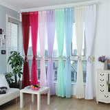Tulle Window Screening Blinds Sheer Voile Gauze Curtain for Cafe Kitchen Living Room Balcony Decor - Bohemian Gift Stores