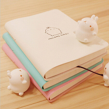 Cute Kawaii Notebook Cartoon Molang Rabbit Journal  Diary Planner Notepad for Kids Gift Korean Stationery Three Covers - Bohemian Gift Stores