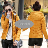2018 new ladies fashion coat winter jacket women outerwear short wadded jacket female padded parka women's overcoat