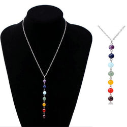 7 Chakra Gem Stone Beads Pendant Necklace Women Yoga Reiki Healing Balancing Maxi Necklaces Charms Bijoux Femme Jewelry 2016 New - Bohemian Gift Stores