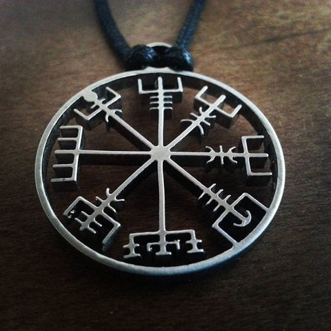 1pcs viking odin's symbol of norse runic pendant necklace Viking Runes Vegvisir Compass Pendant