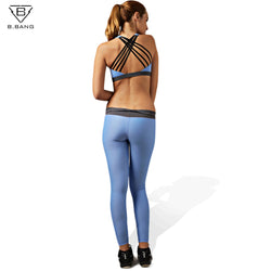 B.BANG Woman Yoga Sets Sports Bra and Leggings Female Sportswear for Running Jogging Fitness Stretch Clothing
