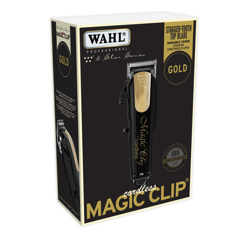 Wahl Limited Edition Black & Gold Cordless Magic Clip
