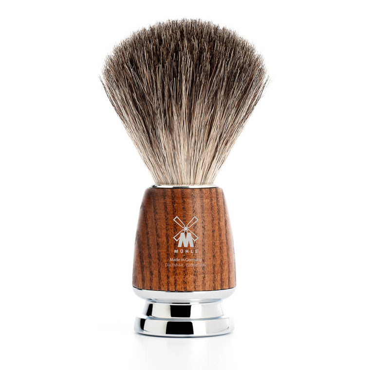 Pure Badger Shaving Brush – Steamed Ash