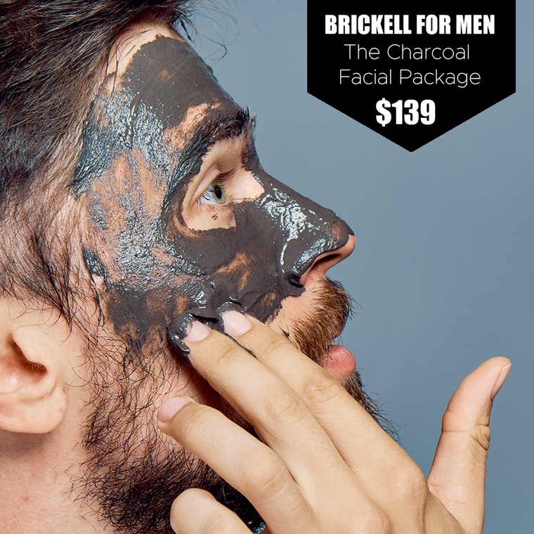 Brickell for Men Charcoal Facial Package