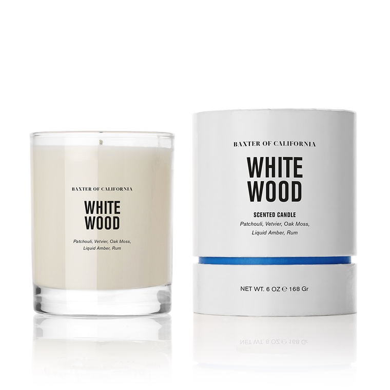 White Wood Candle