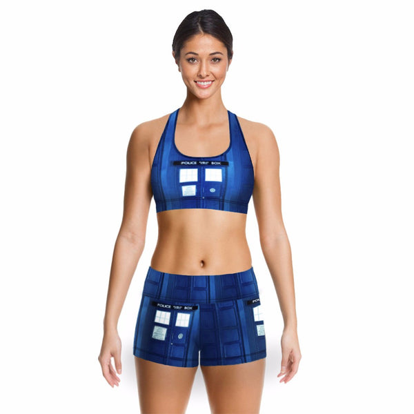 Police Box Crop Top Only (set 1-2)