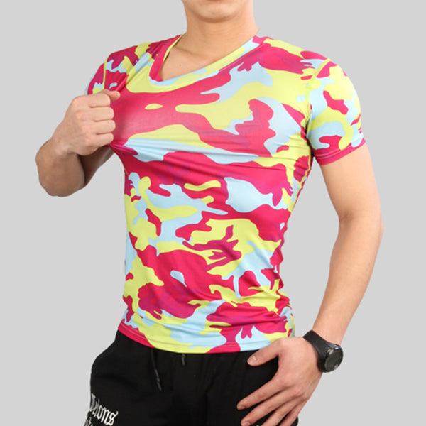 Men's Compression Camouflage T-shirts