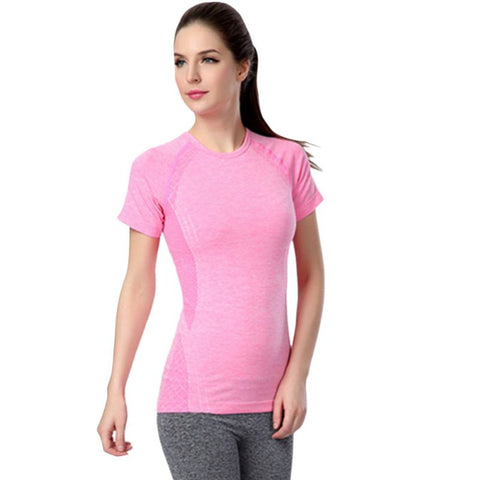 Elastic Quick-Dry Yoga T Shirt