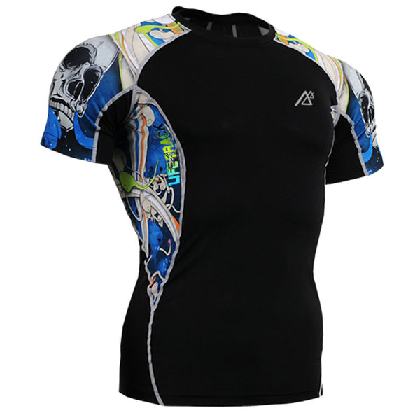 Graphic Compression Shirt for Men
