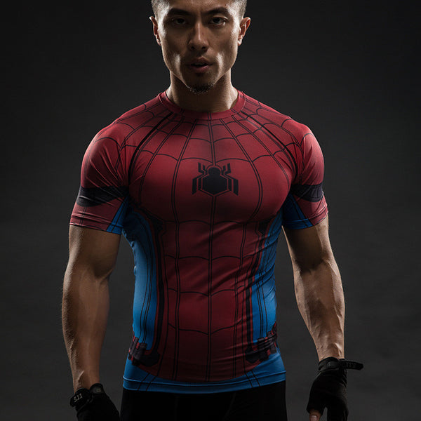 Spiderman Inspired Workout Shirt