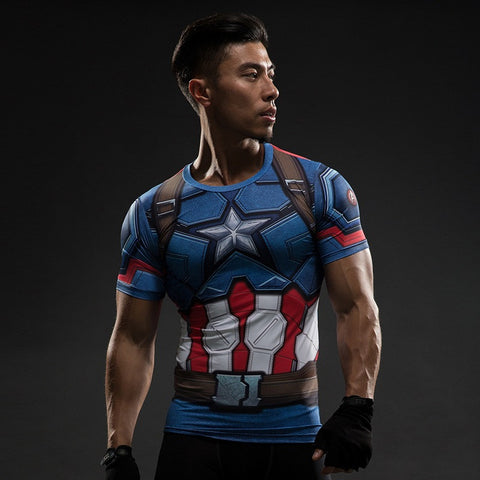 Capt. America Inspired Workout Shirt