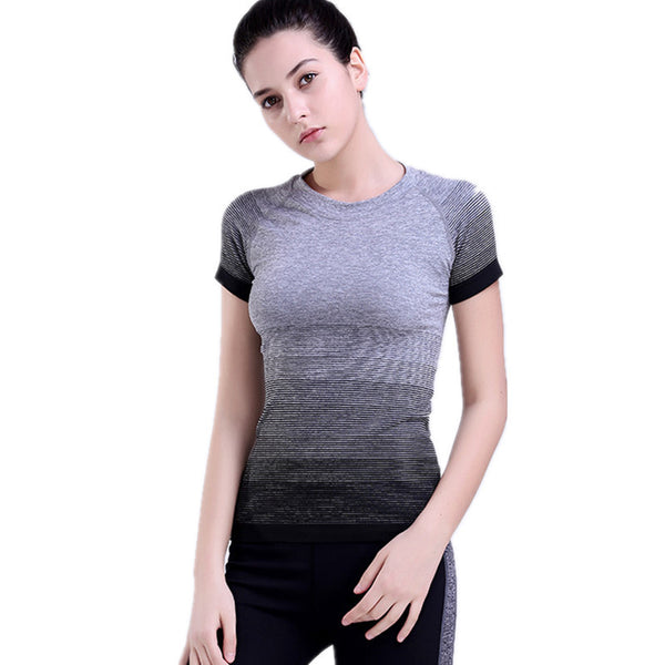 Women Quick Dry Gym Sport T-Shirts