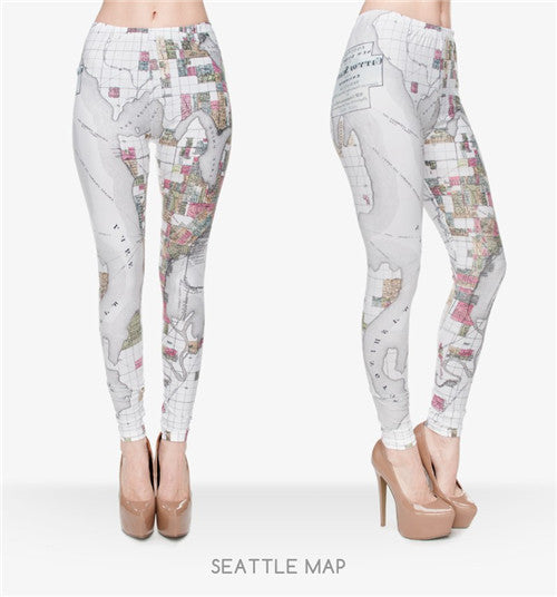 Seattle Map Leggings