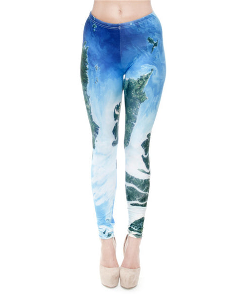 World Map Leggings
