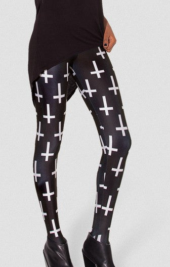 White Cross Mini Leggings
