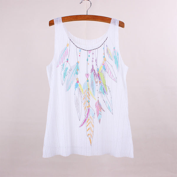 Feather Art Tank Top