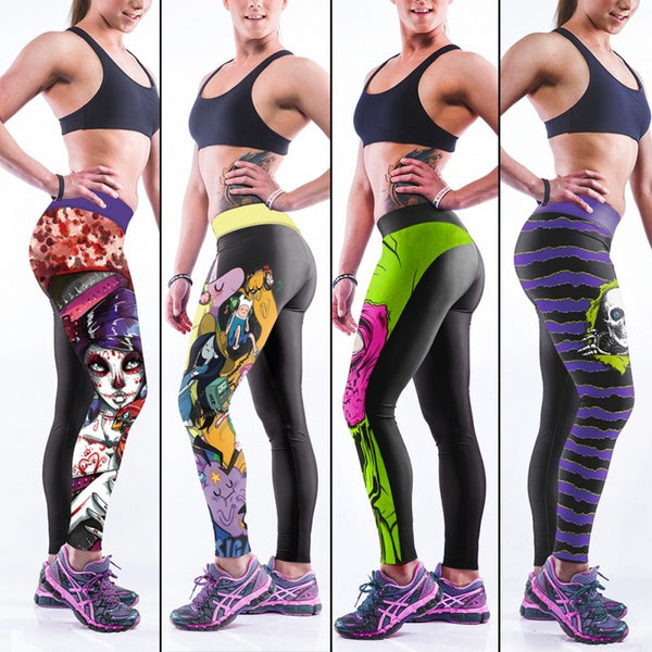 Colorful 3D Printed Leggings