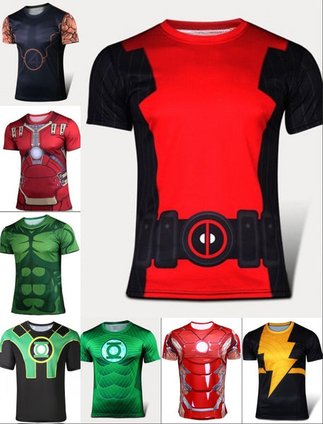 Hero Inspired Fitness Compression Shirts