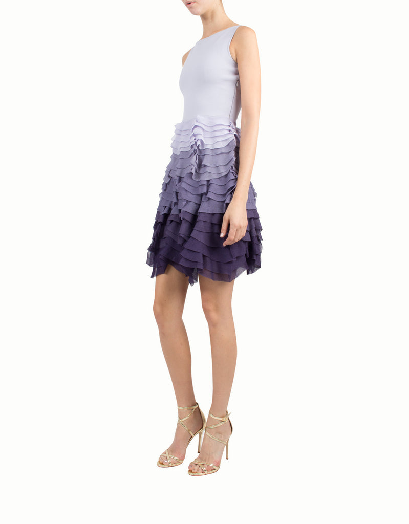 Claire de Lune Silk-Blend Ruffled Dress