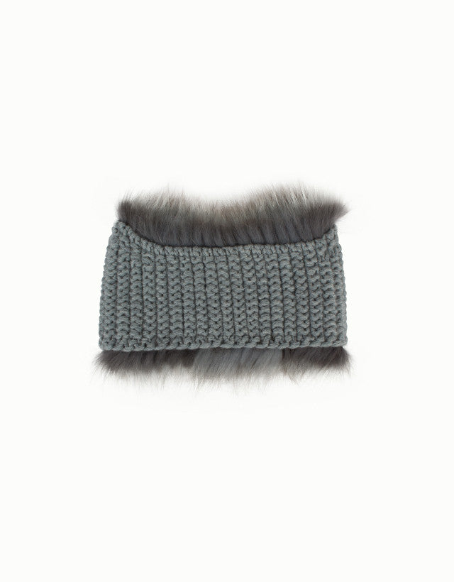 Fox Fur & Cashmere Bandeau Hat