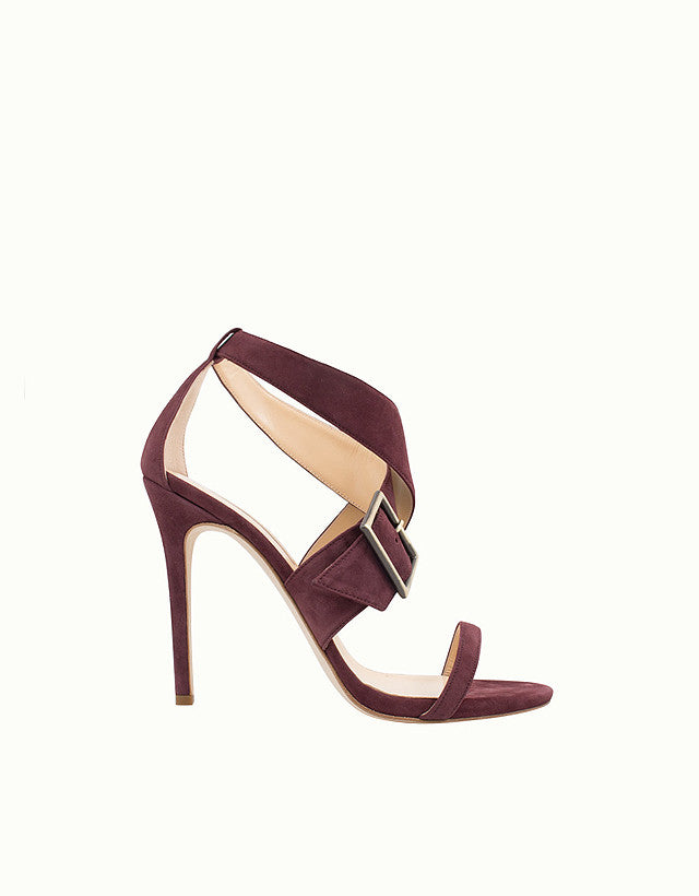 Gloria Buckle Suede Sandals