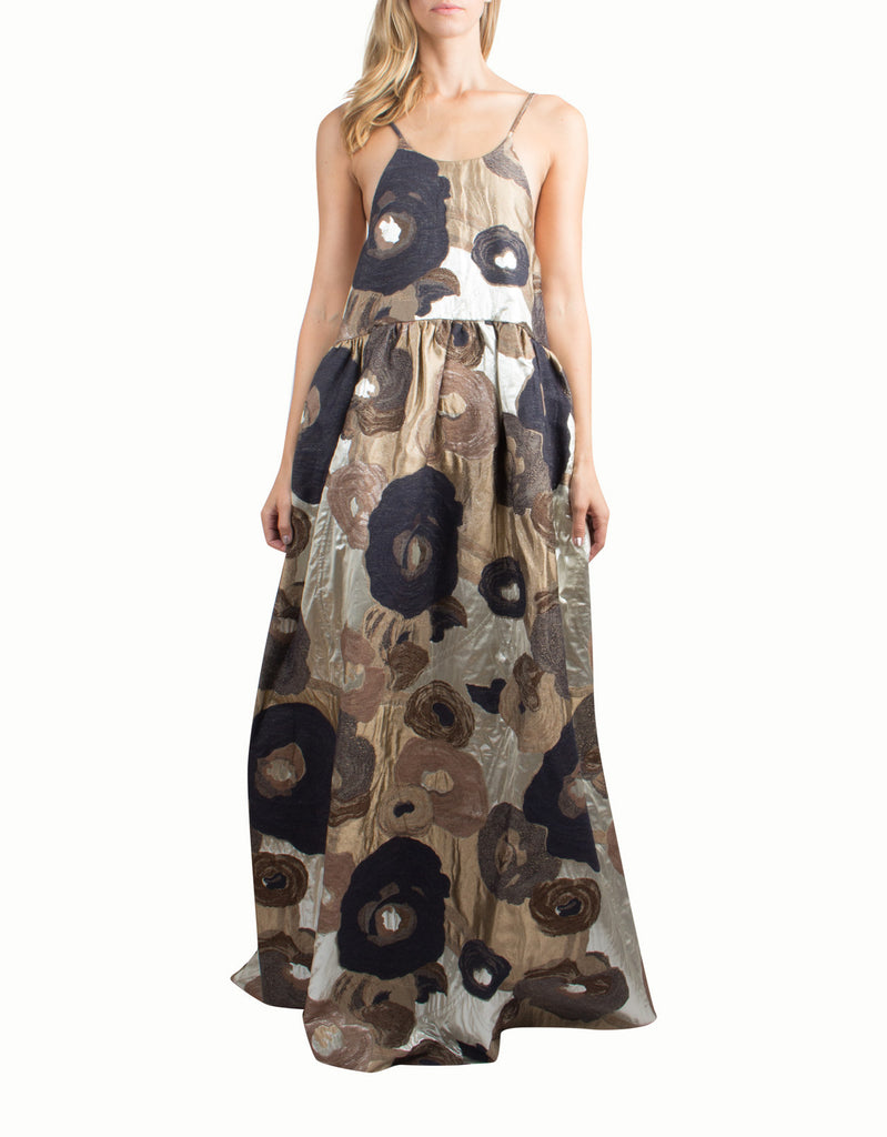 Floral Brocade Cheyenne Maxi Dress