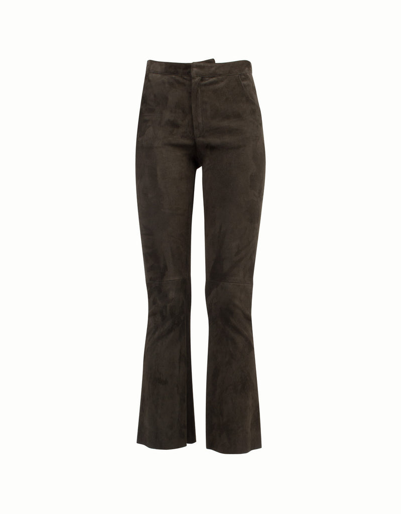 Suede Flared Pants