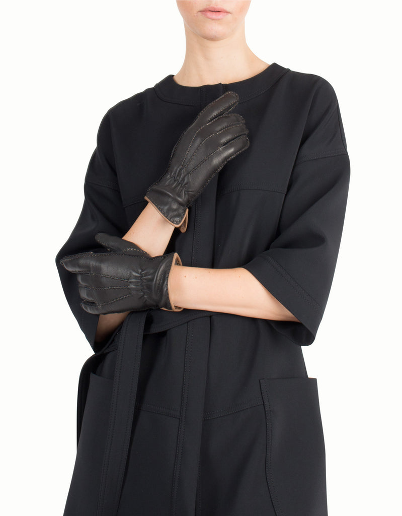 Cashmere & Deer Leather Gloves