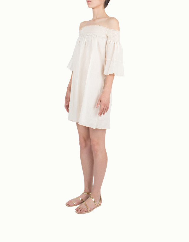 Cotton Off-The-Shoulder Beach Cover-Up