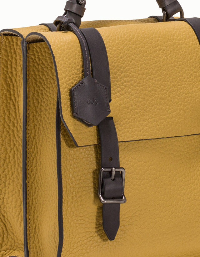 Leather Medium Gemini Satchel