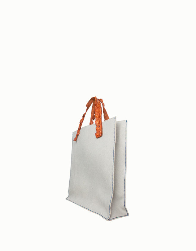 Crocodile Canvas Tote Bag