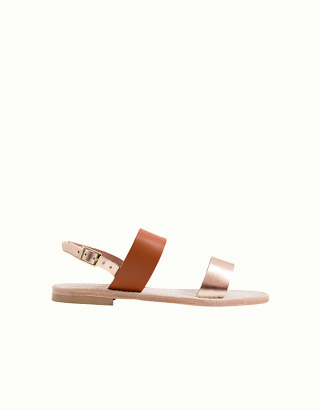 Levanto Metallic Leather Sandals