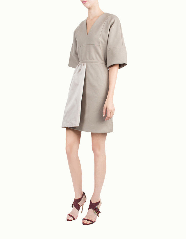 Cashmere & Wool-Blend V-neck Dress