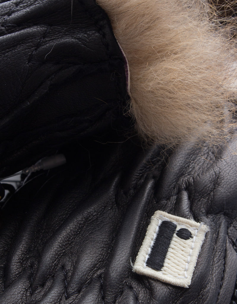 Opossum Fur & Peccary Leather Gloves