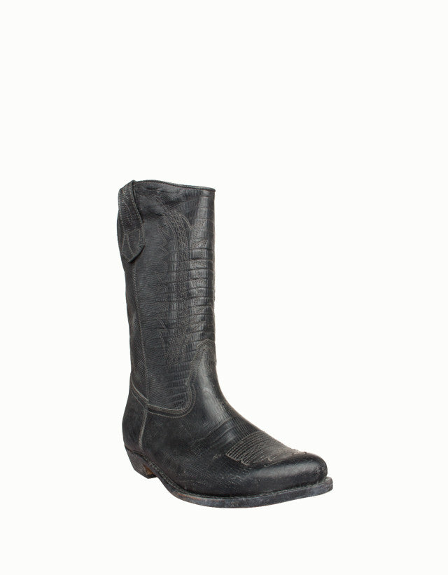 Embossed Leather Western Boots