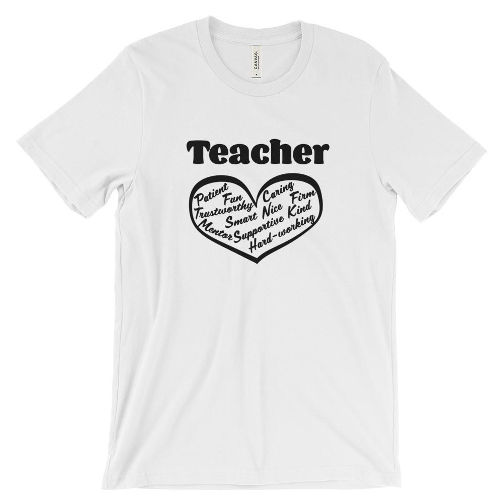 Teacher Heart Filled with Words